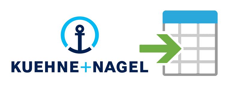 Import shipping rates of Kuehne Nagel