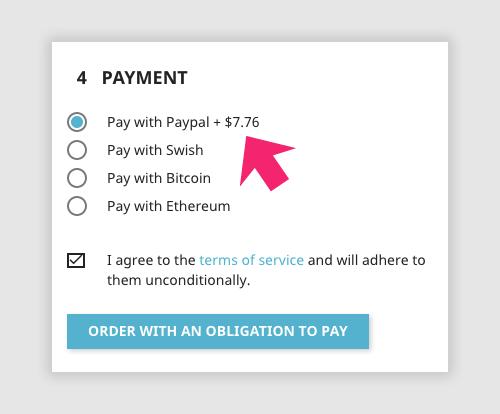 Surcharge payment Prestashop